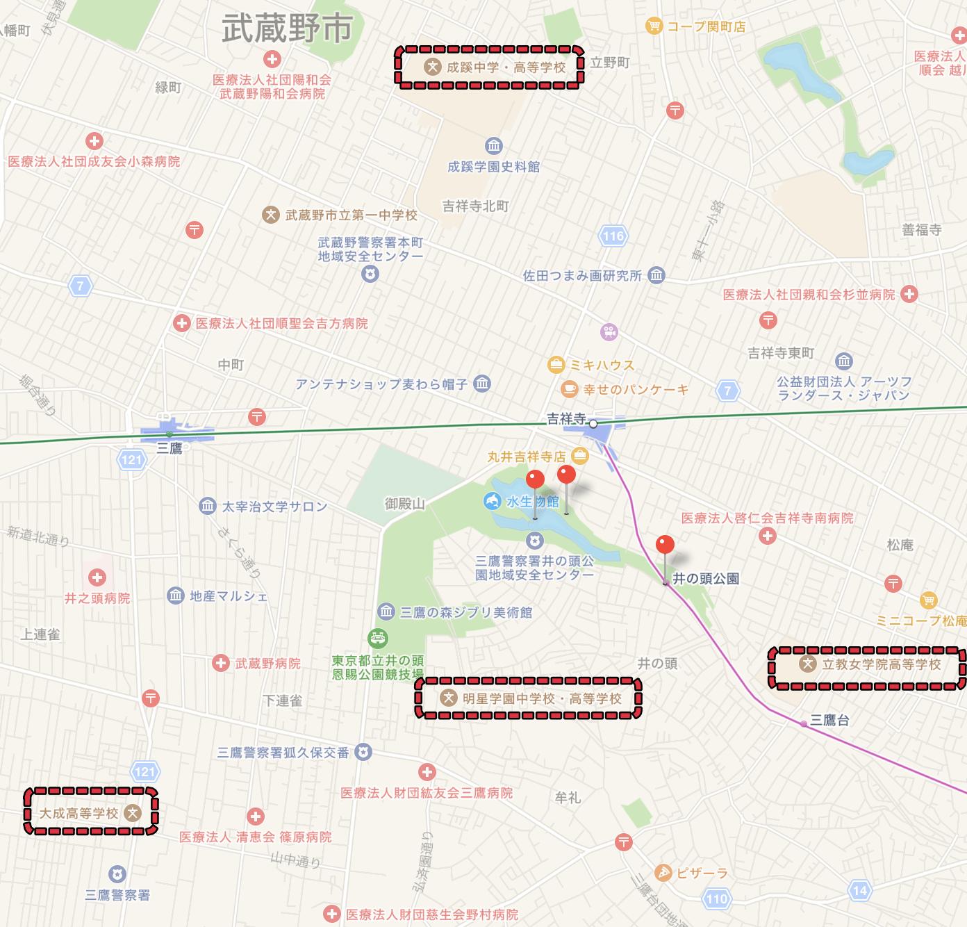 井の頭周辺MAP