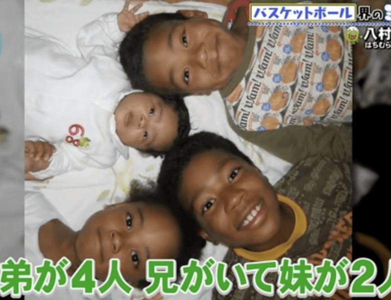 八村4兄妹の幼少期