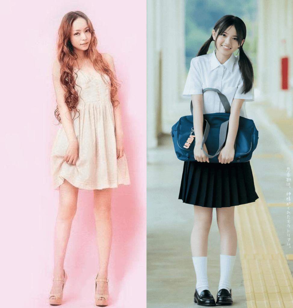安室奈美恵、齋藤飛鳥、顔、比較