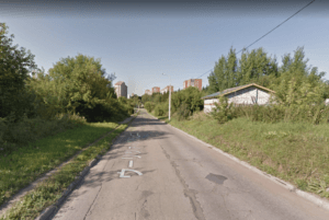 イジェフスクの田舎道の様子