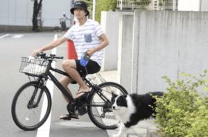 田口淳之介が自宅周辺で散歩