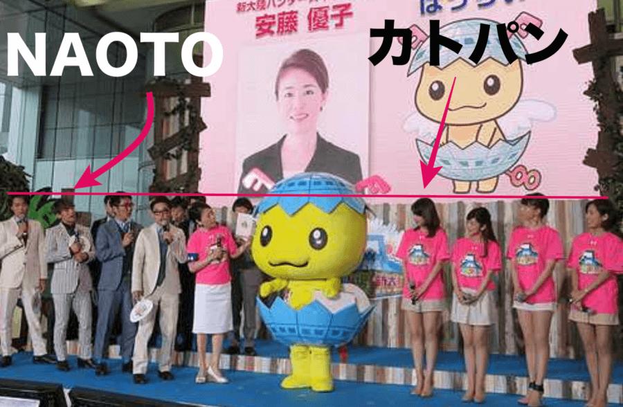 加藤綾子アナとNAOTOの身長差比較