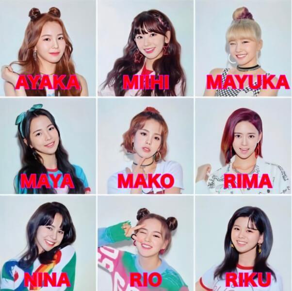NiziU(二ジュー)メンバー全員の顔画像と名前まとめ