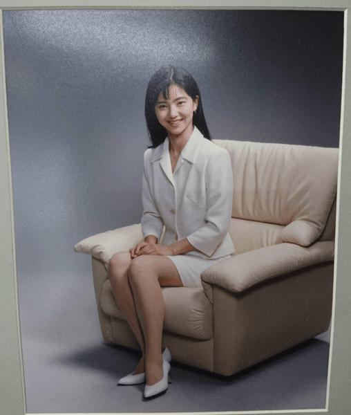 1996年頃の大学生時代の石垣のりこ