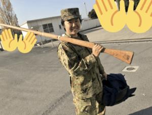 やす子の自衛隊時代の画像