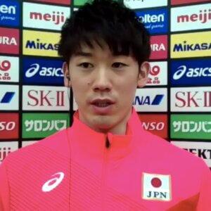 日本代表の会見合流後の会見に出席した石川祐希選手