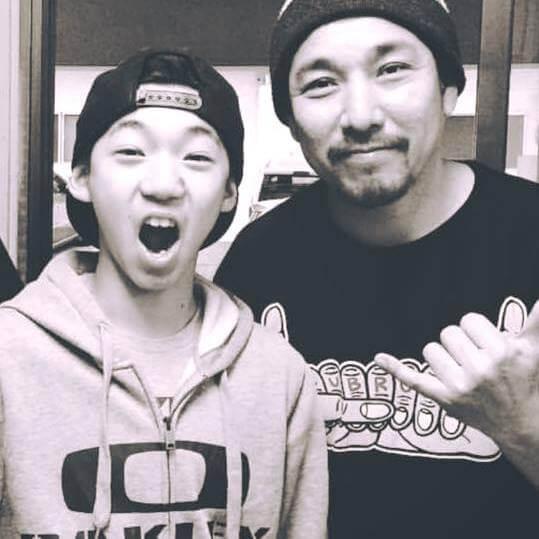 中村輪夢さんと父辰司さん