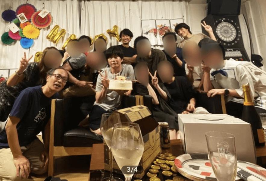 田中圭の誕生日会の写真