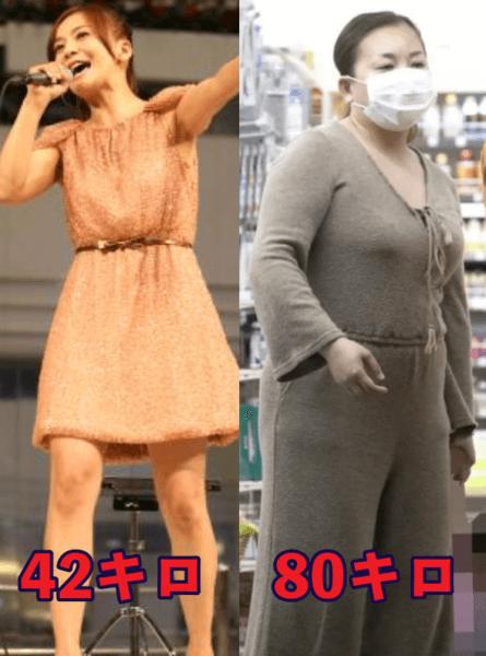 華原朋美の現在と2013年を比較して体重も載せた画像